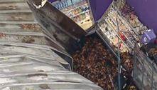 SP: Chuva derruba parte de teto de supermercado em São Bernardo
