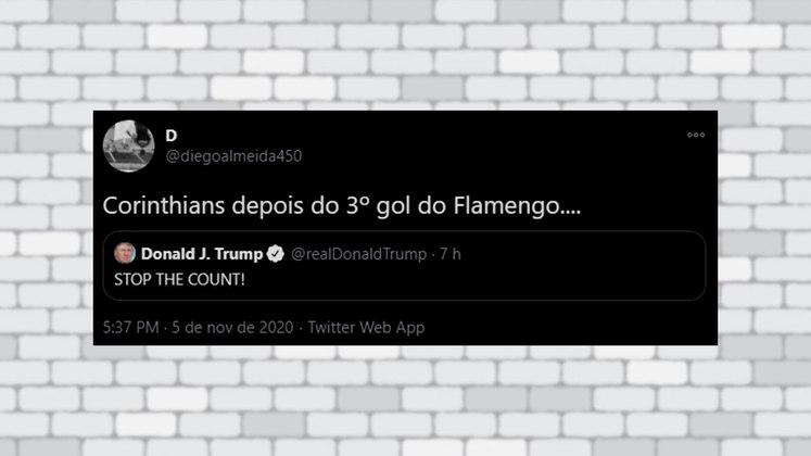 Teve torcedor lembrando do 5 a 1 do Flamengo sobre o Corinthians pelo Brasileirão no último dia 18 de outubro
