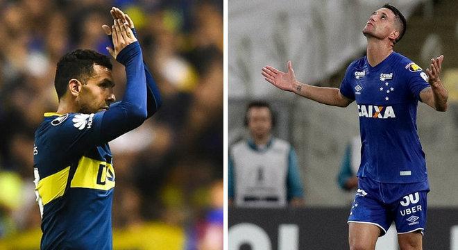 Duelo de gente grande: goleadores Tévez e Thiago Neves se encaram nesta quarta