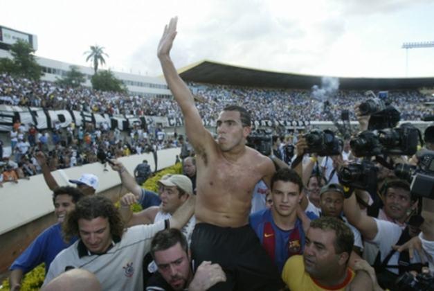 Tevez foi, indiscutivelmente, o nome do título brasileiro de 2005, sendo eleito o craque do torneio