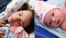 Cantora Thaeme revela primeiras fotos da filha: 'Ivy chegou'