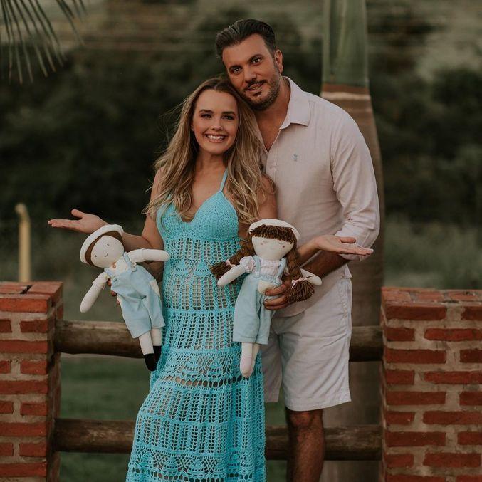 Thame revela sexo e nome de seu segundo filho com Fábio Elias