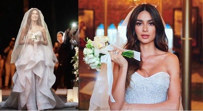 Thaila Ayala arrasou no modelito que tinha um estilo mais romântico.