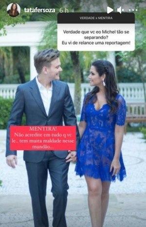 Thais Fersoza comenta boatos de separação com Michel Teló