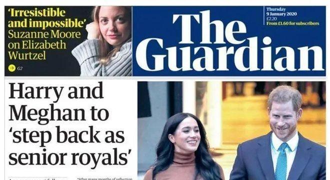 The Guardian dedicou quase a capa inteira aos dois