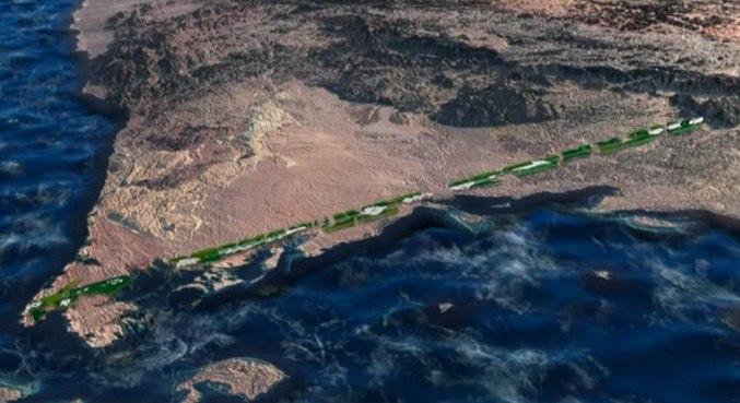 The Line terá 170 km de comprimento distribuídos em uma linha reta