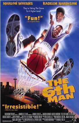 The Sixth Man (1997) - O Sexto Homem, em português. Dois irmãos jogam no mesmo time, mas o melhor deles tem um ataque cardíaco durante uma jogada e morre. Então, o filme tem uma virada inesperada. Kenny Tyler (Marlon Wayans) é o único que consegue ver seu irmão, Antoine (Kadeem Hardison), que passa a ajudá-lo em quadra