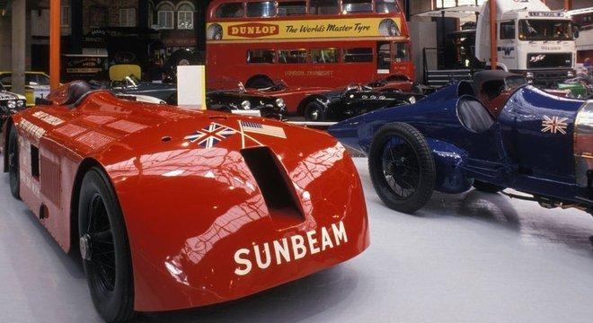 O Sunbeam 1,000hp está em exposição em um museu no Reino Unido