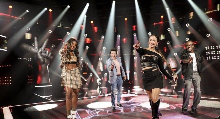 """Ludmilla, Daniel, Cláudia Leitte e Mumuzinho são os técnicos da versão """"Mais"""" do The Voice."""