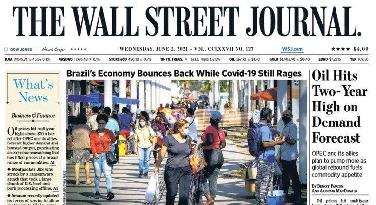 Jornal destaca recuperação econômica do Brasil em meio à pandemia