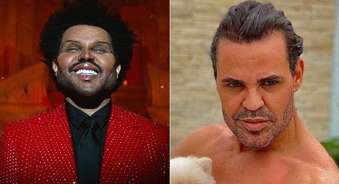 The Weeknd no clipe de 'Save Your Tears' foi comparado a Eduardo Costa na web