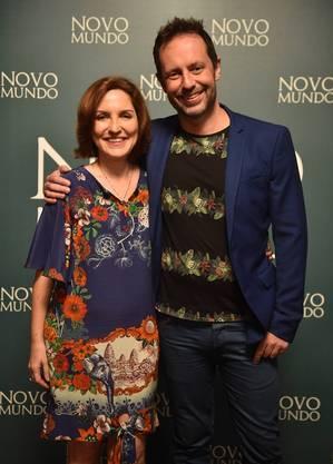 Os autores Thereza Falcão e Alessandro Marson