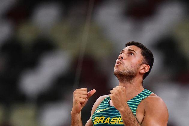 Thiago Braz: ouro na Rio 2016 e bronze em Tóquio 2020, o atleta do salto com vara tem 27 anos e chega forte para Paris 2024