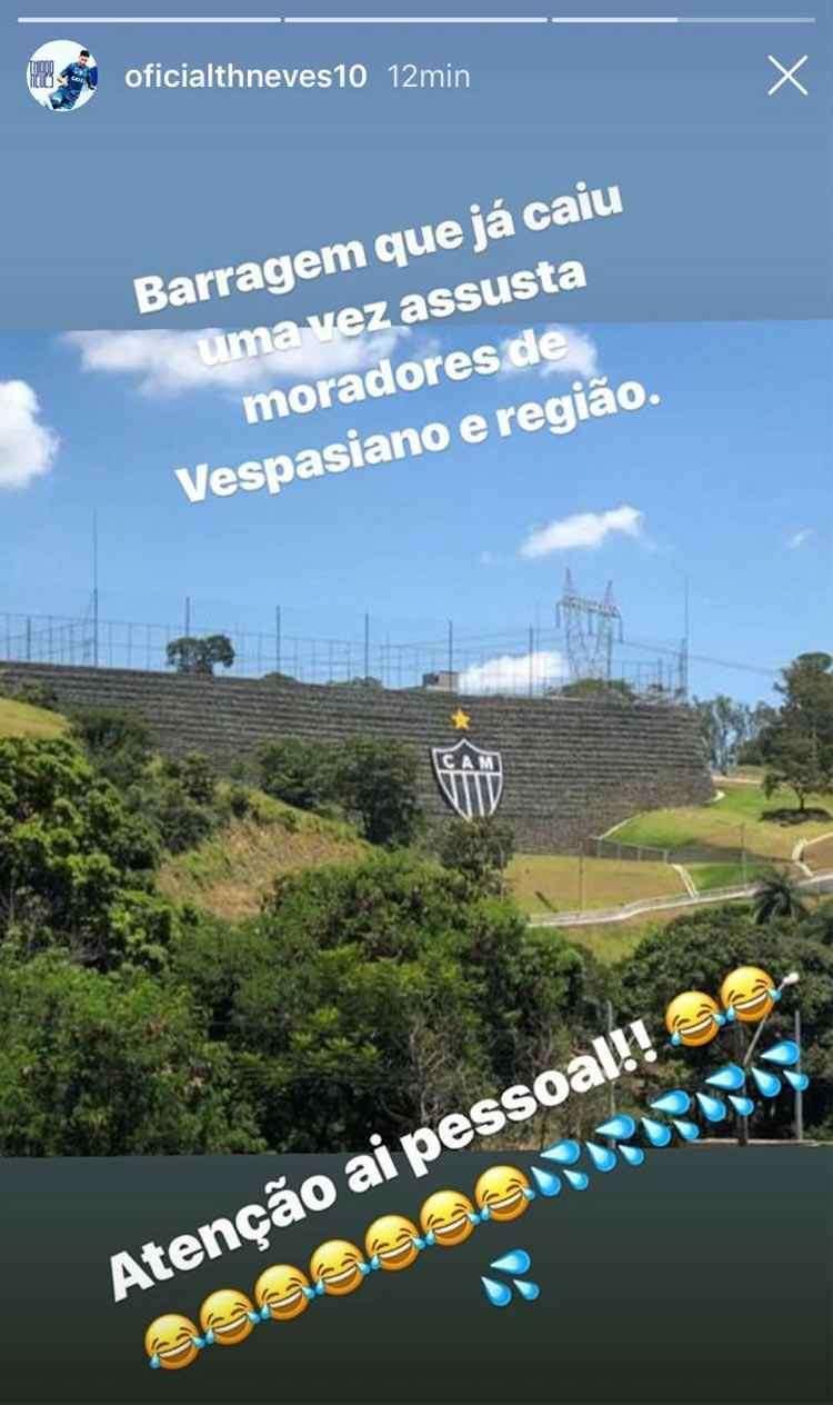Thiago Neves passou dos limites nesta infeliz provocação. Dez dias após Brumadinho