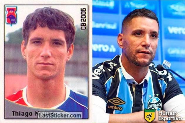 Thiago Neves jogou pelo Paraná em 2005. Inicia o Brasileirão 2020 com 35 anos e jogando pelo Grêmio