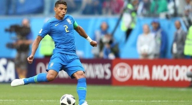 Thiago Silva foi capitão no segundo jogo da Copa, contra a Costa Rica e o Brasil venceu por 2 a 0