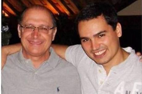 Thomaz com o pai Geraldo Alckmin (PSDB)