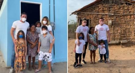 Weslley Safadão entrega casa ao lado da família