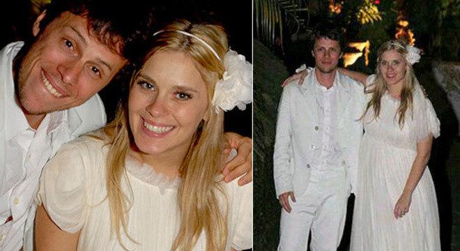 Tiago e Carolina se casaram em 2007, ela estava grávida