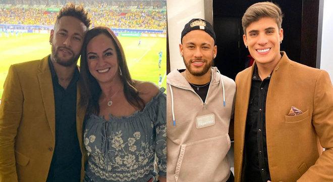Neymar ,a mãe e Tiago Ramos