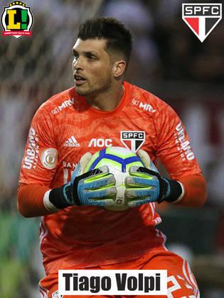 Tiago Volpi - 6,0 - Foi um mero espectador da partida. Praticamente não foi exigido durante os 90 minutos.