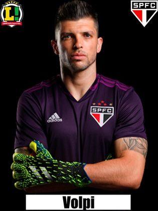 Tiago Volpi - 6,0 - Não teve culpa no gol sofrido, porém estava um pouco inseguro na partida.