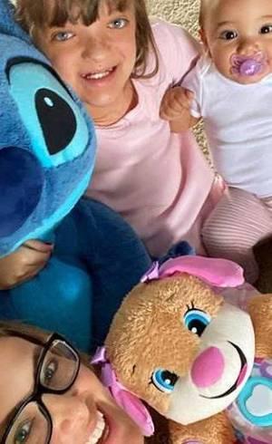 Ticiane com as filhas, Rafa e Manu