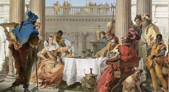 "Detalhe de ""O Banquete de Cleópatra"""