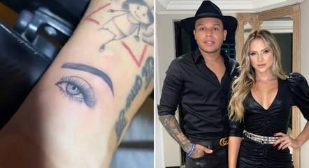 Tierry fez tatuagem do olho de Gabi Martins