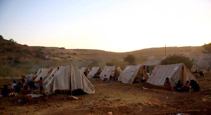 Moradores da região fugiram para evitar massacres e bombardeios