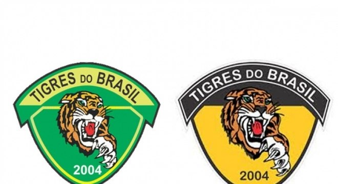 Tigres - Time do Rio de Janeiro, o Tigres do Brasil tinha um escudo nas cores verde e amarelo. Em 2015, o clube fez uma parceria com o Corinthians e trocou o verde (cor do Palmeiras, arquirrival do Timão) pelo amarelo
