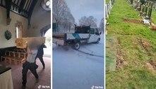 Funcionários de cemitério postam vídeos 'nojentos' e são demitidos