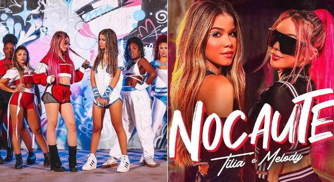 No clipe de 'Nocaute', Tília e Melody se jogam na dança