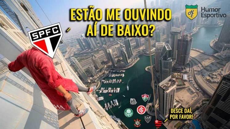 Time comandado por Fernando Diniz venceu o Goiás por 3 a 0 e assumiu a ponta do Brasileirão. Em memes, treinador tricolor foi exaltado pelos torcedores. Confira! (Por Humor Esportivo)