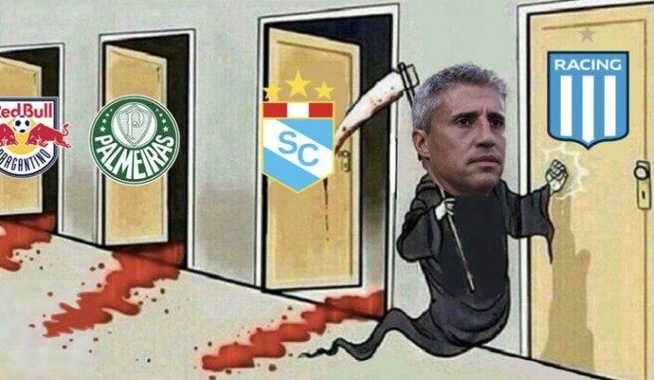 Time comandado por Hernán Crespo apresentou bom futebol e venceu por 3 a 0 o Sporting Cristal, fora de casa. Benítez, Luan e o próprio treinador tricolor foram exaltados pelos torcedores nos memes. Confira! (Por Humor Esportivo)