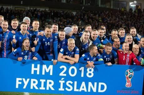 Time da Islândia disputa a Copa do Mundo pela primeira vez
