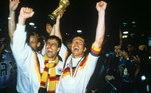 O alemão Matthaus, campeão em 1990, na Copa da Itália