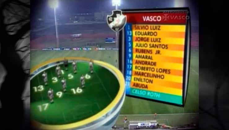 Time do Vasco de 2007, que ainda contava com o famoso volante Perdigão.