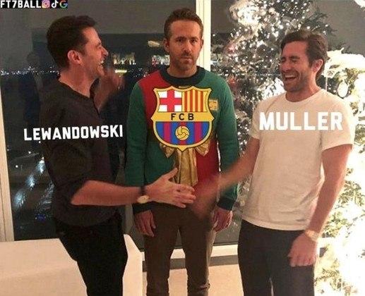 Time espanhol perdeu por 3 a 0 na estreia da Champions League e torcedores relembraram o 8 a 2 para o Bayern na última edição da competição. Confira na galera! (Por Humor Esportivo)