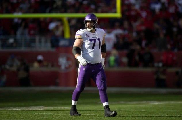 Times desesperados por proteção ao quarterback podem encontrar a solução em Riley Reiff, do Minnesota Vikings.