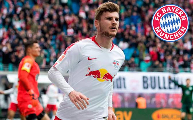 Timo Werner. Posição: Atacante. Idade: 24 anos. Clube atual: RB Leipzig. Clube interessado: Bayern de Munique.