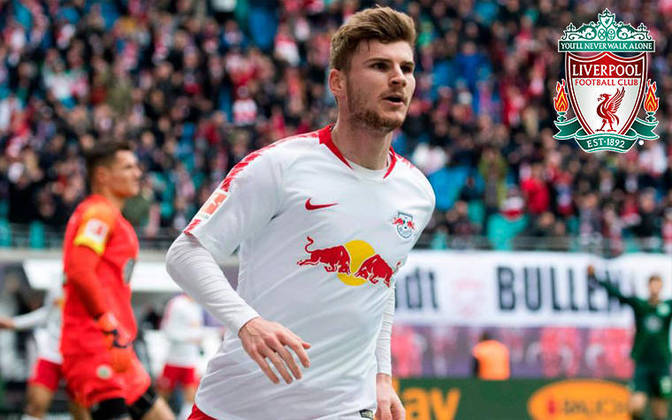 Timo Werner. Posição: Atacante. Idade: 24 anos. Clube atual: RB Leipzig. Clube interessado: Liverpool.