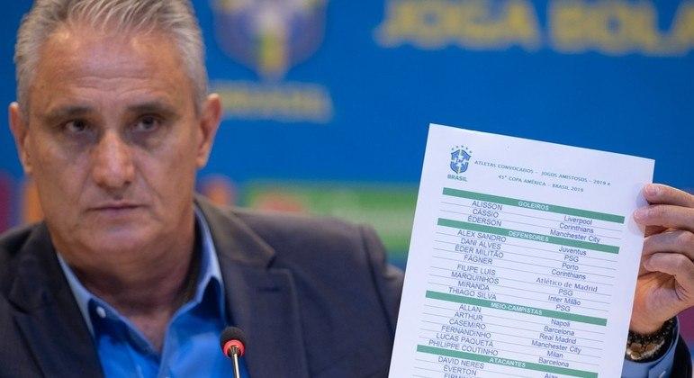 Tite quer os melhores jogadores na Copa América e nas Eliminatórias