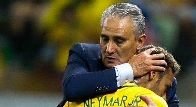 Desde 2016 é a mesma cena. Tite defendendo Neymar de tudo e de todos