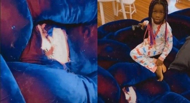 Titi e o buraco sofá de Gagliasso