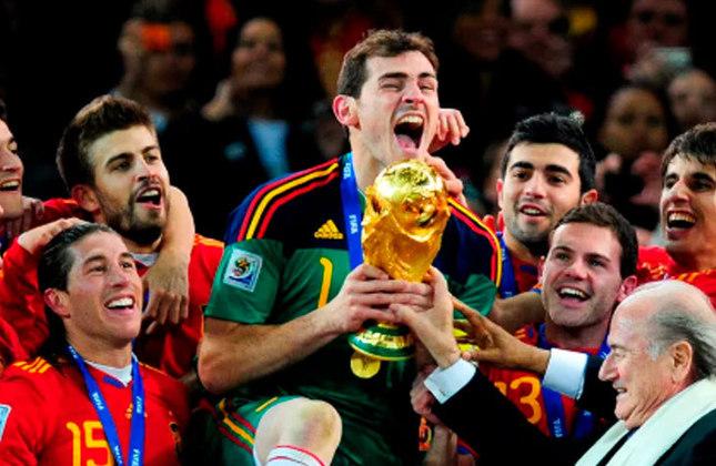 Títulos conquistados: Copa do Mundo de 2010 (foto), Eurocopa de 1964, Eurocopa de 2008 e Eurocopa de 2012