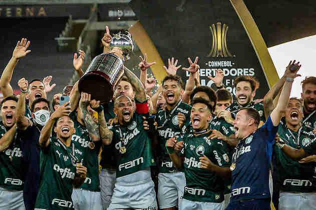 Títulos do Palmeiras na década: Libertadores (2020), Brasileirão (2016 e 2018), Copa do Brasil (2012, 2015 e 2020), Paulistão (2020) e Série B (2013)