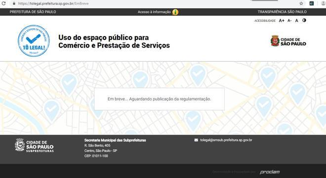 """Criado pela Prefeitura de São Paulo, site do """"Tô legal!"""" não funciona no 1° dia"""