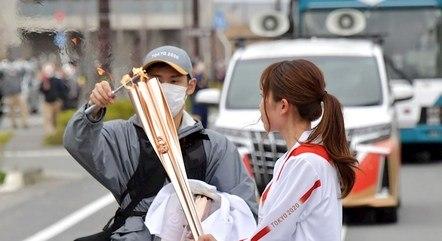 Revezamento começou em Tomioka, Fukushima