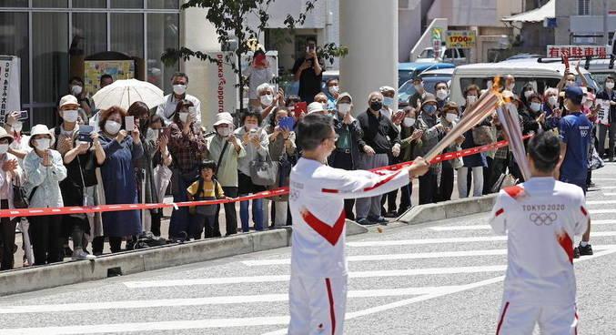 Tóquio 2020 também organiza sua cerimônia de revezamento da tocha olímpica